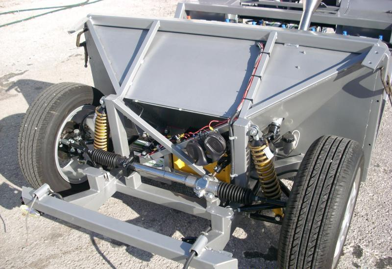 Automotive rack and pinion steering, powder coated frame & suspension