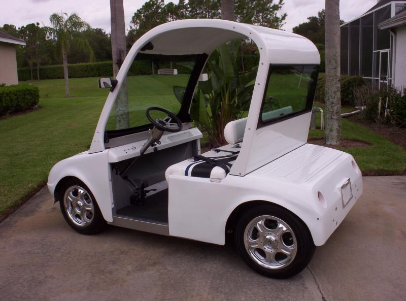 "3 passenger Lectric Limo ""Splash"" solar, electric powered low speed commuter v"